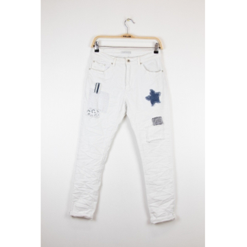 Marta Ladies Jeans White W/ Star